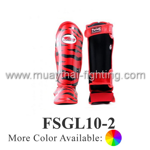 Twins Special Fancy Double Padded Shin Protection Tiger FSGL10-2