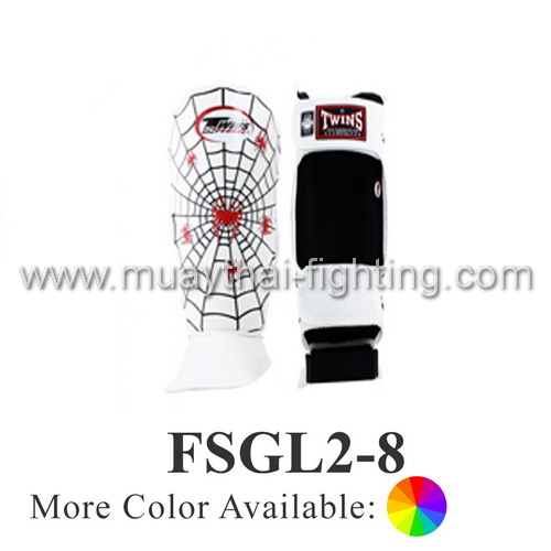 Twins Special Fancy Shin Protection Spider Pattern FSGL2-8