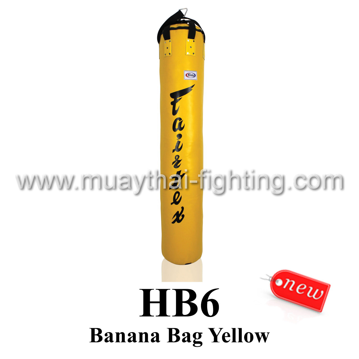 Fairtex 6ft Muay Thai Banana Bag HB6 (UnFilled)- Yellow