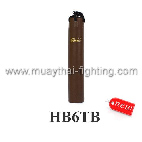 Now Fairtex 6ft Muay Thai Banana Bag Throwback Hb6tb Unfilled