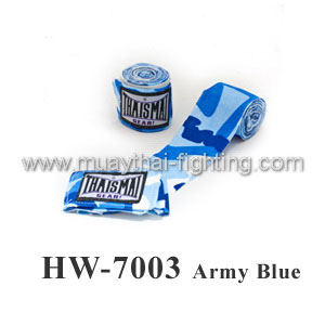 ThaiSmai Fancy Design Elastic Hand wraps Army Blue HW-7003