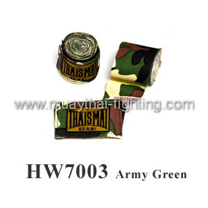 ThaiSmai Fancy Design Elastic Handwraps Army Green HW-7003