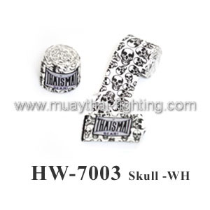handwraps skull design white