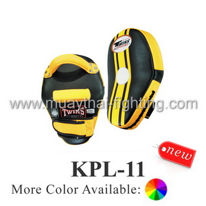 Twins Special Curved Leaf Leather Kick Pads KPL-11