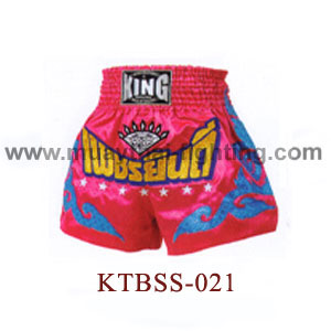 Top King Pink Phet Yindee Muay Thai Shorts KTBSS-021
