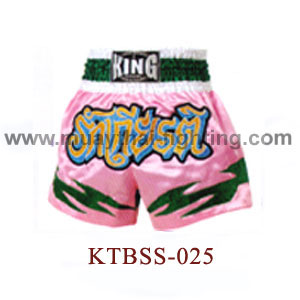 Top King Honour Pink Muay Thai Shorts KTBSS-025