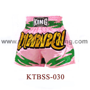 Top King Pink Wai Thai Muay Thai Shorts KTBSS-030