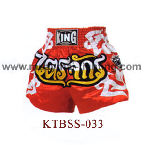 Top King Red Taijack Muay Thai Shorts KTBSS-033