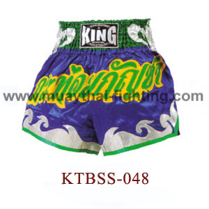 Top King Marihuana Muay Thai Shorts KTBSS-048