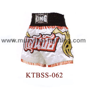 Top King San Chai White Muay Thai Shorts KTBSS-062