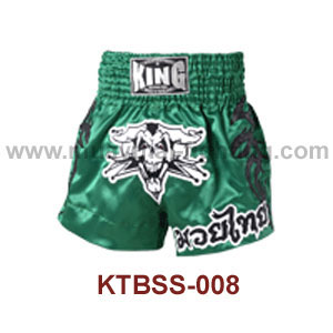 Top King Green Pirates Muay Thai Shorts KTBSS-008