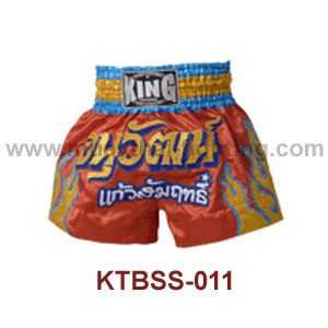 Top King KING Anuwat Satin Muay Thai Shorts KTBSS-011