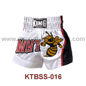 Top King Killer Bee Satin Muay Thai Shorts KTBSS-016