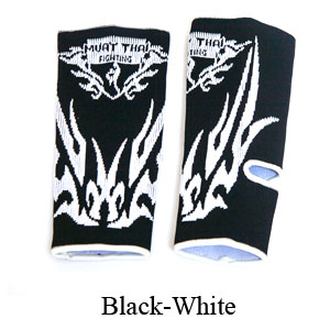 MuayThai-Fighting Dragon Tattoo Ankle Guard Color Black/White