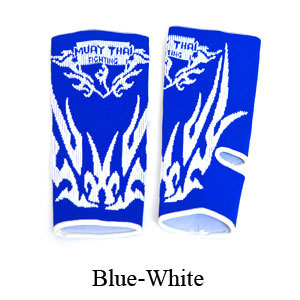 MuayThai-Fighting Dragon Tattoo Ankle Guard Blue/White