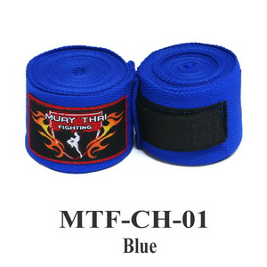 Muaythai Fighting Handwraps Elastic Cotton MTF-CH-1 Blue