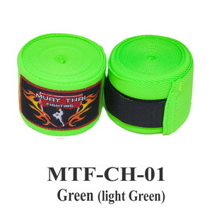 Muaythai Fighting Handwraps Elastic Cotton MTF-CH-1 Green