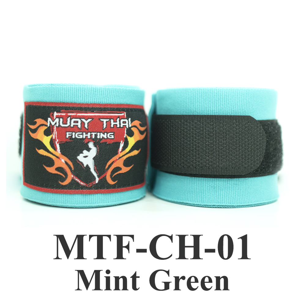 Muaythai Fighting Handwraps Elastic Cotton MTF-CH-1 Mint Green