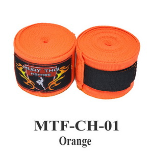 Muaythai Fighting Handwraps Elastic Cotton MTF-CH-1 Orange