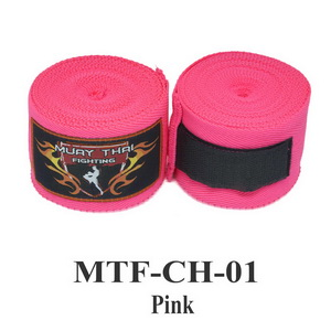 Muaythai Fighting Handwraps Elastic Cotton MTF-CH-1 Pink