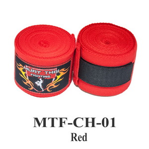 Muaythai Fighting Handwraps Elastic Cotton MTF-CH-1 Red