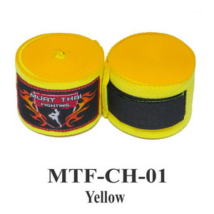 Muaythai Fighting Handwraps Elastic Cotton MTF-CH-1 Yellow