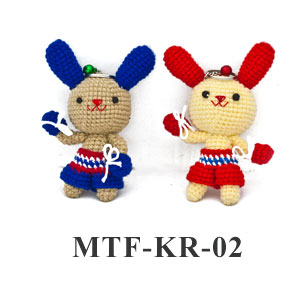 MuayThai Fighting Key Ring Bunny MTF-KR-02 (1 pc/ random color)