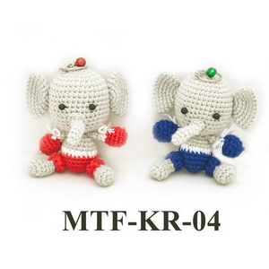 MuayThai Fighting Key Ring Elephant MTF-KR-04 (1 pc/random color