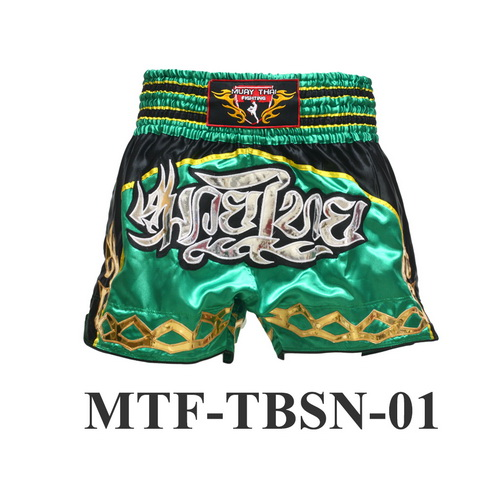 MuayThai-Fighting Green Muay Thai Boxing Shorts MTF-TBSN-01