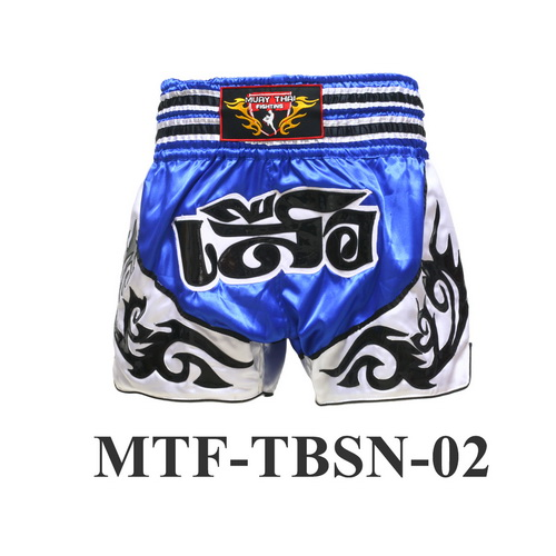 MuayThai-Fighting Blue Tiger Muay Thai Boxing Shorts MTF-TBSN-02