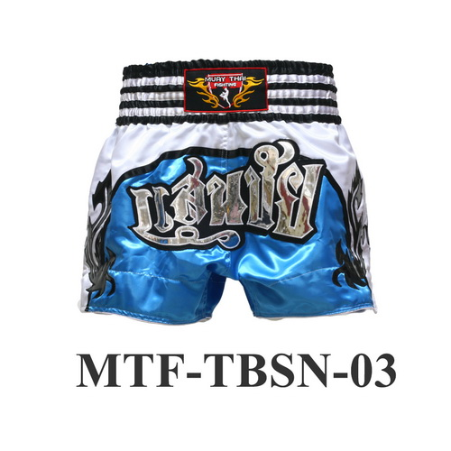 MuayThai-Fighting Blue San Chai Boxing Shorts MTF-TBSN-03
