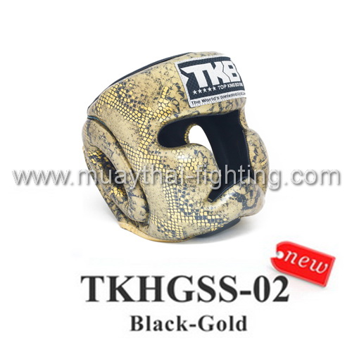 TOP KING Head Guard  Snake Design TKHGSS-02 Black/Gold