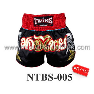 Twins Special Muay Thai Shorts Black Gold NTBS-005