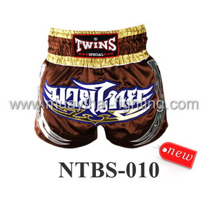 Twins Special Muay Thai Shorts Brown NTBS-010