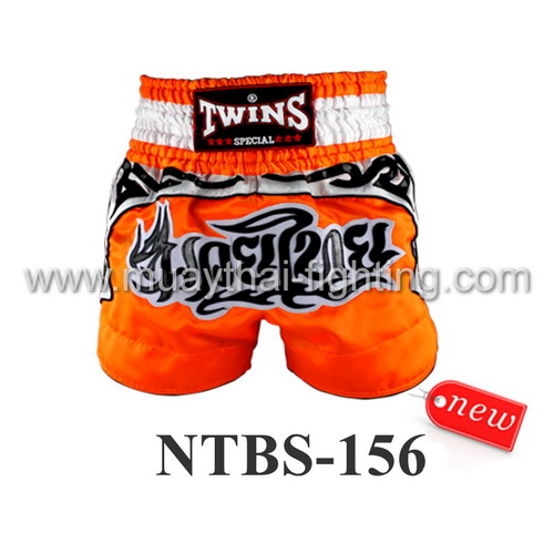 Twins Special Muay Thai Shorts Orange NTBS-156