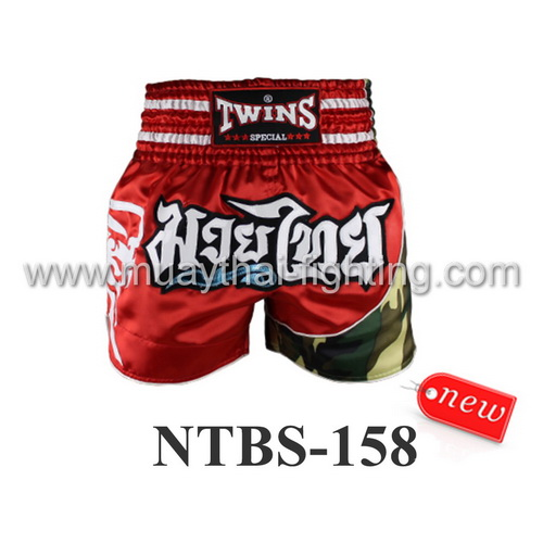 Twins Special Muay Thai Shorts Red NTBS-158