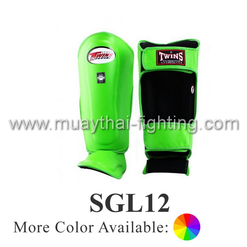 Twins Special Deluxe Leather Shin Protection SGL-12