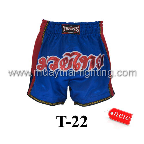 Twins Special Muay Thai Shorts Blue T-22