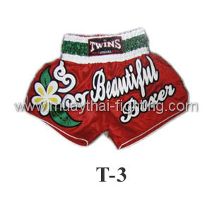 Twins Special Muay Thai Shorts Red Beautiful Boxer T-3