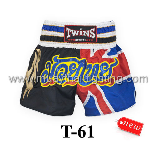 Twins Special Muay Thai Shorts Union Jack T-61