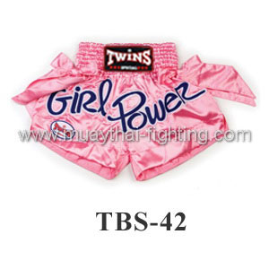 Twins Special Muay Thai Shorts Girl Power Pink TBS-42