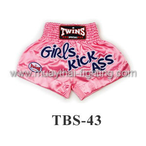 Twins Special Muay Thai Shorts Girl Kick Pink TBS-43