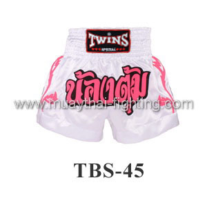 Twins Special Muay Thai Shorts White Nong Tum TBS-45