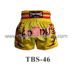 Twins Special Muay Thai Shorts Yellow TBS-46