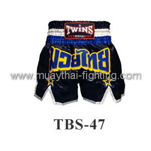 Twins Special Muay Thai Black Shorts TBS-47