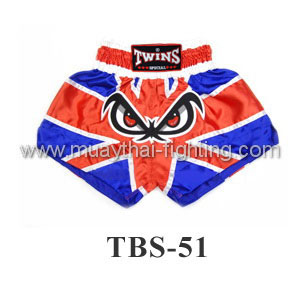 Twins Special Muay Thai Shorts No Fear Flag TBS-51