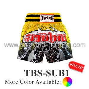 Twins Special Muay Thai Shorts Sublimation Print Skull TBS-SUB1