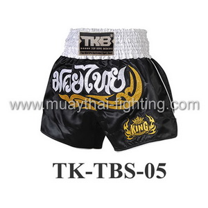 Top King Black White Kanok Muay Thai Shorts TK-TBS-05
