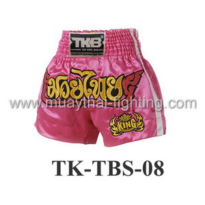 Top King Pink White Nokkab Shorts TK-TBS-08