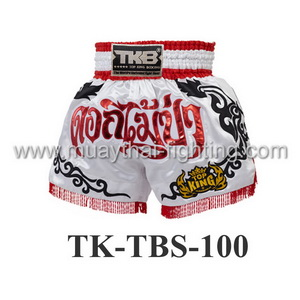 Top King Muay Thai Shorts TK-TBS-100 White Wild Flower